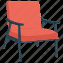 chair, lounge chair, morris chair, reclining chair, sofa icon