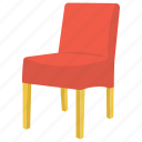 dining chair, dining furniture, dining table, kitchen chair, parsons chair icon