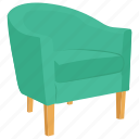 fauteuil chair, armchair, chair, baroque chair, couch icon