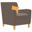 chair, florence chair, living room, lounge furniture, reception chair icon