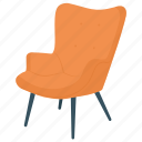 accent chair, chair, club chair, occasional chair, occasional furniture icon