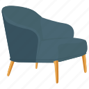 armchair, chair, couch, easy chair, lounge chair icon