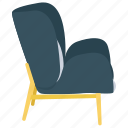 armchair, bergere, bergere chair, couch chair, sofa icon
