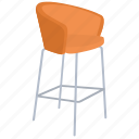 accent chair, chair, comfy, living room, rest chair icon