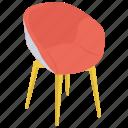 chair, lounge chair, morris chair, reclining chair icon