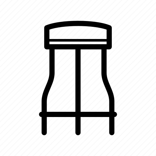 bar, chair, furniture, seat, stool icon