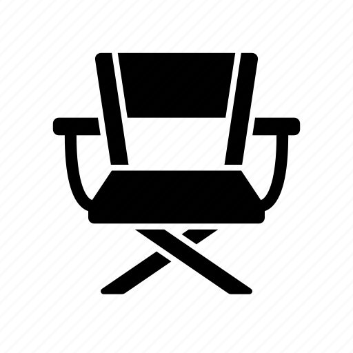 chair, director, entertainment, maker, movie, producer icon