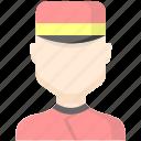 character, doorman, service icon