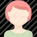 character, girl, people icon