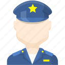 character, police, police man icon