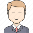 business, character, office, people icon