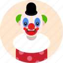 clown, circus, man, profile, picture