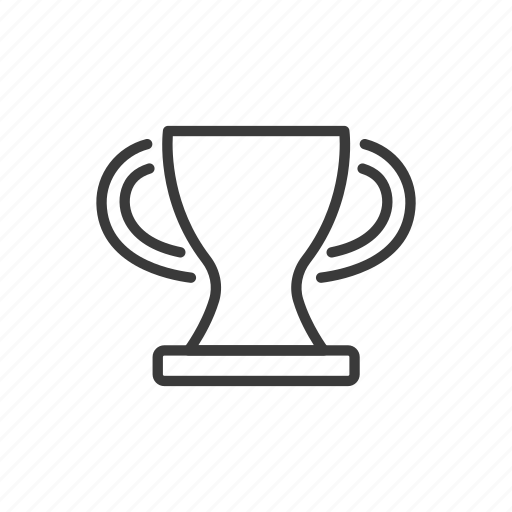 cup, football, line, prize, soccer icon