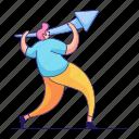 character, builder, man, arrow, up, increase, upward icon