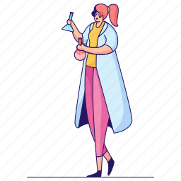 science, character, builder, woman, chemistry, experiment, lab, laboratory