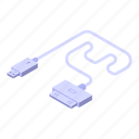 tablet, usb, cable, charger, isometric