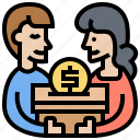 charity, donation, fundraising, give, offering icon