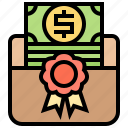 allowance, award, certificate, grant, scholarship icon