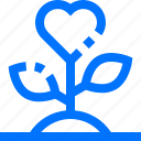 charity, ecology, growth, heart, love, plant