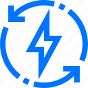 charity, ecology, electric, recycle, refresh, renew, reuse icon