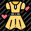clothing, costume, donation, dress, endowment icon