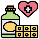 donation, drugs, health, medicine, pill icon