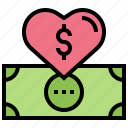banknote, charity, donation, fund, money icon