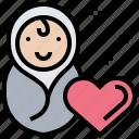 charity, donation, foundation, newborn, support icon