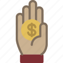 hand, money icon