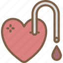 blood, care, charity, donation, give, love icon