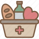 care, charity, donation, food, give, love icon