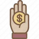 care, charity, donation, give, hand, love, money icon