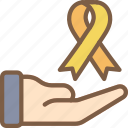 care, charity, donation, give, love, ribbon icon