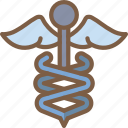 caduceus, care, charity, donation, give, love icon
