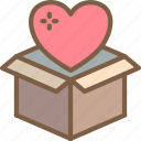 box, care, charity, donation, give, love icon