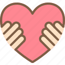 care, charity, donation, give, hands, heart, love icon