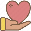 care, charity, donation, give, love icon