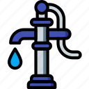 care, charity, donation, give, love, pump, water icon