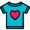 care, charity, donation, give, love, shirt, t icon