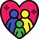 adoption, care, charity, donation, give, love icon