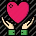 care, charity, donation, give, love, recieve icon