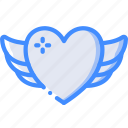 care, charity, donation, give, heart, love, winged icon
