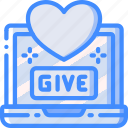love, give, laptop, donation, care, charity