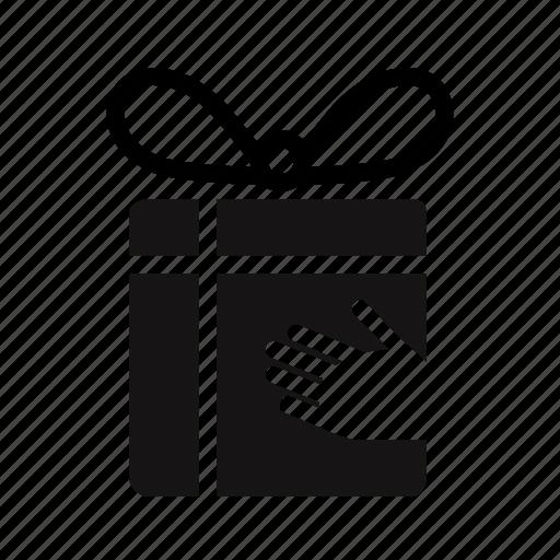 birthday, bonus, box, charity, gift, give, hand, loyalty, reward icon