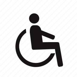cripple, disability, disable, disabled, handicapped, invalid, priority, wheelchair icon