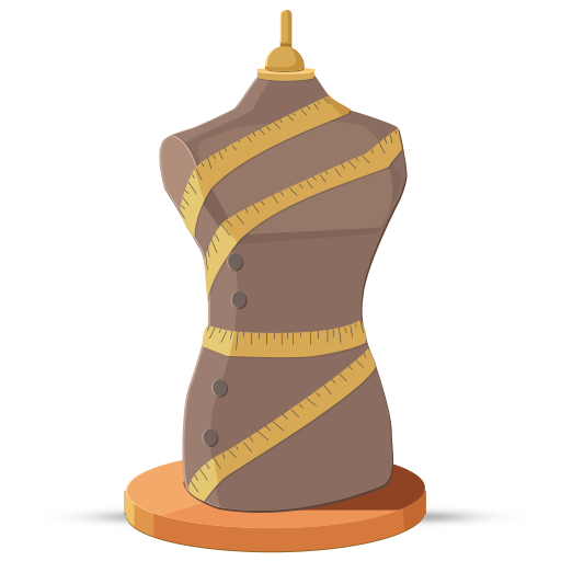 mannequin, measure icon