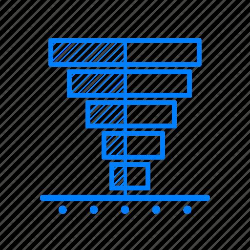 analytics, bar, chart, data, graph, infographic, population pyramid icon