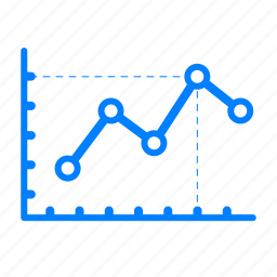 analytics, business, chart, data, graph, growth, line icon