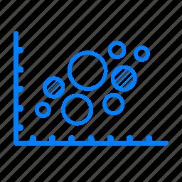 analysis, analytics, bubble, chart, graph icon