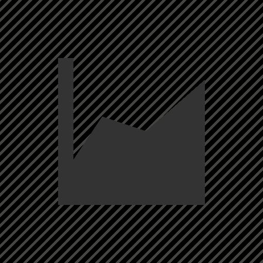 area, chart icon